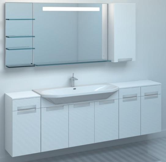 Тумба TIME 95 подвесная без корзины ВанильМебель для ванной<br>Тумба комплектуется раковиной FUSION  (SWISS Design)<br>