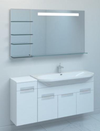Тумба TIME 110 подвесная c корзиной Светлый дубМебель для ванной<br>Тумба комплектуется раковиной FUSION  (SWISS Design)<br>