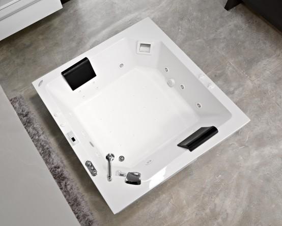 Samson 180/O elite plus airВанны<br>Прямоугольная акриловая ванна Kolpa-san Samson 180, домашний бассейн, каркас, слив-перелив полуавтомат, гидромассаж 8 форсунок типа MAXI-JET, гидромассажная помпа 1,25 квт, массаж спины 12 форсунок типа MICRO-JET, помпа 0,8 квт электронное управление гидромассажем, пульсирующий режим гидромассажа, датчик уровня воды, автотаймер на 15 минут, аэромассажная система Superior 10 форсунок типа AERO JET с сенсорным управлением и системой самоочистки.<br>