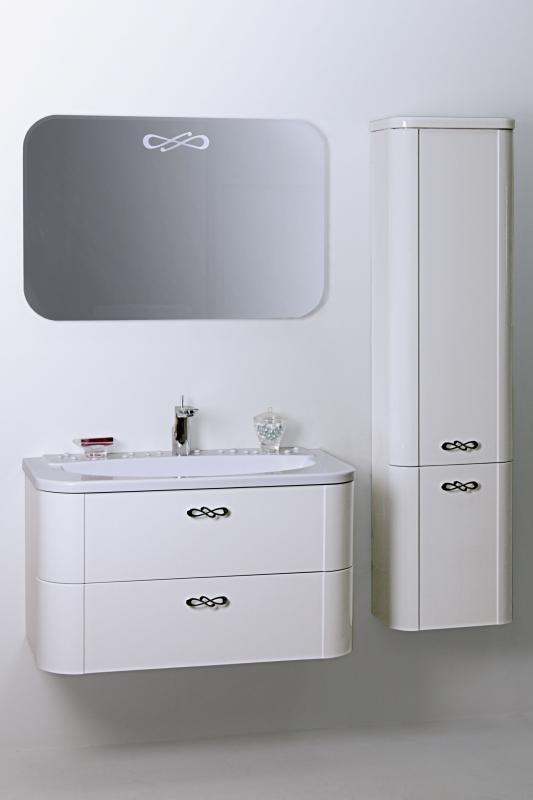 Musa 90 Покрытие глянец, раковина белаяМебель для ванной<br>Valente Musa Musa 900 91 Г подвесной модуль с раковиной. Остальные модули приобретаются дополнительно.<br>