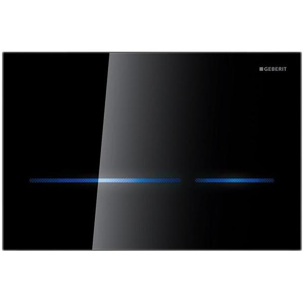 Sigma 80 116.090.SG.1 ЧёрнаяИнсталляции<br>Клавиша смыва Geberit Sigma 80 116.090.SG.1 для работы с инсталляцией или с бачком скрытого монтажа для унитаза.<br><br>Материал: стекло.<br>Цвет: черный.<br>Пять цветов для подсветки клавиш.<br>Подсветка включается при приближении.<br>Установка: фронтальная.<br>Управление: сенсорное.<br>Для систем двойного смыва.<br>Функция блокировки.<br>Ручная бесконтактная активация.<br>Самонастройка смывного механизма.<br>Сетевое напряжение в смывном бачке отсутствует.<br>Инфракрасный датчик присутствия пользователя.<br>Самонастраивающийся датчик.<br>Дезактивация осуществляется посредством Clean Handy или вручную.<br>Размеры: 24,7 x 16,4 x 1 см.<br><br><br>Рабочее напряжение: 4,1 В постоянного тока.<br>Номинальное напряжение: 110-230 В переменного тока.<br>Частота тока: 50-60 Гц.<br>Степень защиты: IP45.<br><br>В комплекте поставки:<br><br>Кнопка смыва.<br>Монтажная рамка.<br>Электропривод смыва.<br>Крепежные элементы.<br><br>