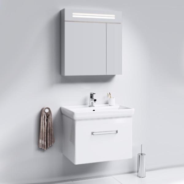 Нео 70 подвесная БелаяМебель для ванной<br>Подвесная тумба под раковину Aqwella Нео 70 Neo.01.07/1 белая, с глянцевой поверхностью, с выдвижным ящиком с хромированной ручкой. Для использования в ванных комнатах с повышенной влажностью.<br>Гармония, удобство и функциональность.<br>Материал: МДФ европейского производства.<br>Покрытие: четыре слоя белой глянцевой эмали.<br>Экологически чистые материалы.<br>Сертификат качества: ISO 9001:2000.<br>Фурнитура Blum: надежность и долговечность.<br>Монтаж: подвесной, крепление к стене. <br>Отделение:<br>выдвижной ящик, один отсек.<br>Система мягкого закрывания (Blum).<br>В комплекте поставки:<br>тумба.<br>
