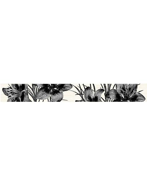 цена Керамический бордюр Нефрит Керамика Пиано чёрный 5х40 см онлайн в 2017 году
