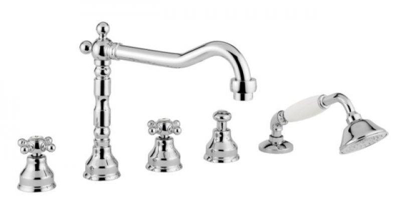Revival 480 CRDO (хром / золото)Смесители<br>Смеситель для ванны Bugnatese Revival 480 CRDO цвет: хром / золото<br>