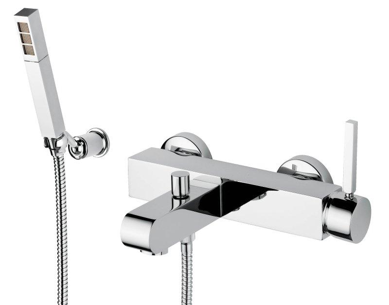 Stone 9302 CR (хром)Смесители<br>Смеситель для ванны Bugnatese Stone 9302 CR (хром).<br>