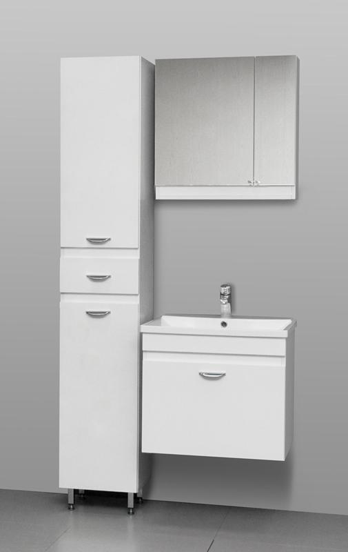 Massima 60 шпон кремовыйМебель для ванной<br>Цена указана за тумбочку с раковиной (шпон кремовый). Нижняя часть – широкий ящик, снабженный австрийской шарикоподшипниковой системой выдвижения, которая позволяет пользоваться ящиком мягко и бесшумно. Верхняя часть - раковина прямоугольной формы из долговечного искусственного камня с системой защиты от перелива<br>