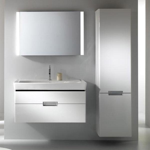 Reve 80 подвесная 2 ящика Белая глянцеваяМебель для ванной<br>Подвесная тумба под раковину Jacob Delafon Reve 80 EB1135-G1C c двумя выдвижными ящиками.<br>Безукоризненный дизайн, четкие линии, элегантная отделка. Тумба совмещает в себе лаконичность и изысканность.<br>Изготовлена из ДСП с применением меламина - специальной декоративной пленки. Меламин устойчив к механическим повреждениям и истиранию, защищает мебель от воды, прост в уходе.<br>Покрытие: глянцевый полиуретановый лак высокого качества.<br>Выдвижной ящик со встроенными доводчиками. Два контейнера для аксессуаров позволяют удобно организовать хранение.<br>Мягкий и плавный ход ящиков с функцией Soft Close. Скрытые ручки с покрытием цвета матовый хром.<br>Цвет: белый глянец.<br>Монтаж: подвесной.<br>В комплекте поставки: тумба под раковину.<br>