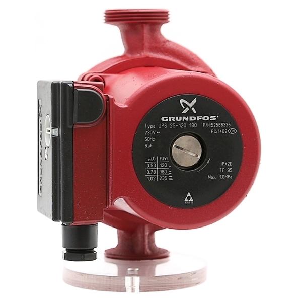 Циркуляционный насос Grundfos UPS 25-120 180 230 В циркуляционный насос grundfos ups 25 120 52588336