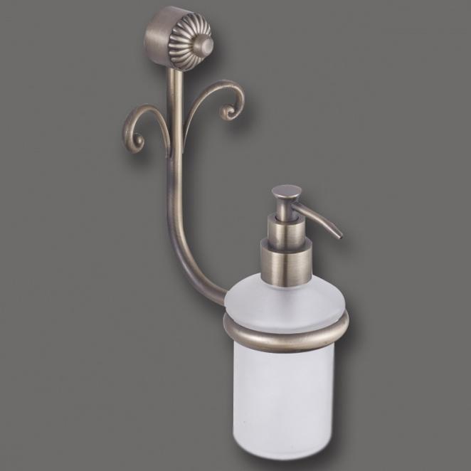 Palace AM-8249 БронзаАксессуары для ванной<br>Дозатор для жидкого мыла Art &amp; Max Palace AM-8249, ёмкость для мыла выполнена из стекла.<br>