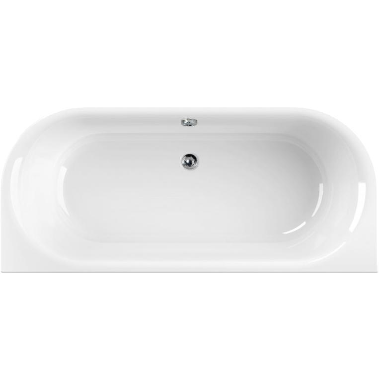 Акриловая ванна Cezares Metauro Wall 180х80 Белая