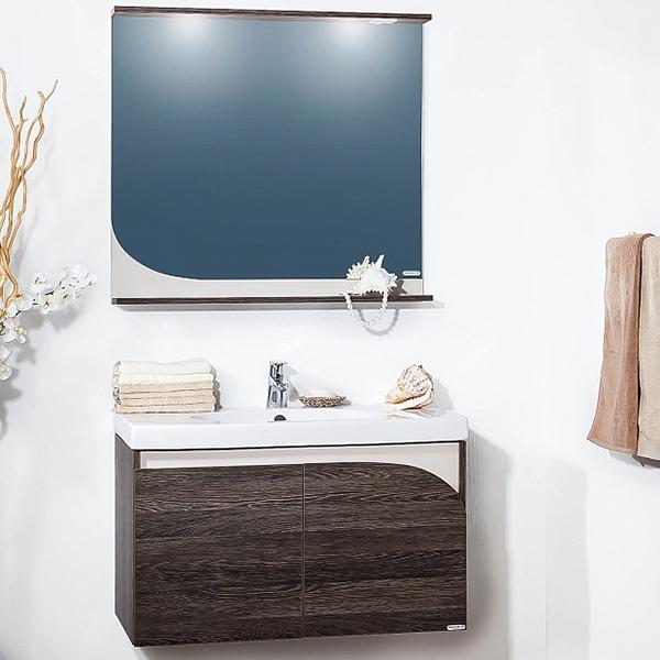 Севилья 90 венге мали/песокМебель для ванной<br>Подвесная тумба под раковину Бриклаер Севилья 90 с двумя распашными дверцами. Корпус и фасад выполнены из ЛДСП в контрастной комбинации цветов темного экзотического дерева и светлого песочного. Тумба проявляет устойчивость к влажному воздуху и длительное время сохраняет свой первоначальный внешний вид.<br>