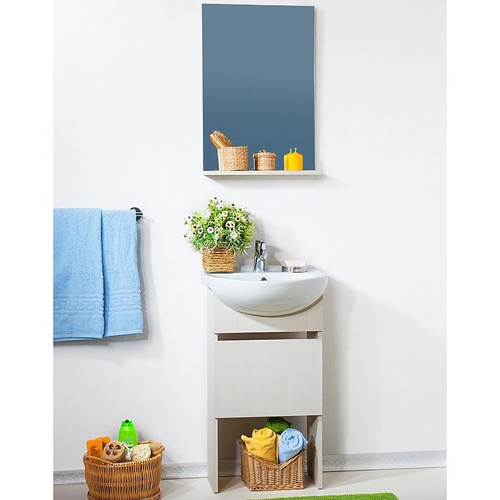 Катюша 50 венгеМебель для ванной<br>Тумба под раковину Бриклаер Катюша 50 с одной распашной дверцей. Корпус и фасад выполнены из ЛДСП цвета экзотического темного дерева. Тумба проявляет устойчивость к влажному воздуху и длительное время сохраняет свой первоначальный внешний вид.<br>