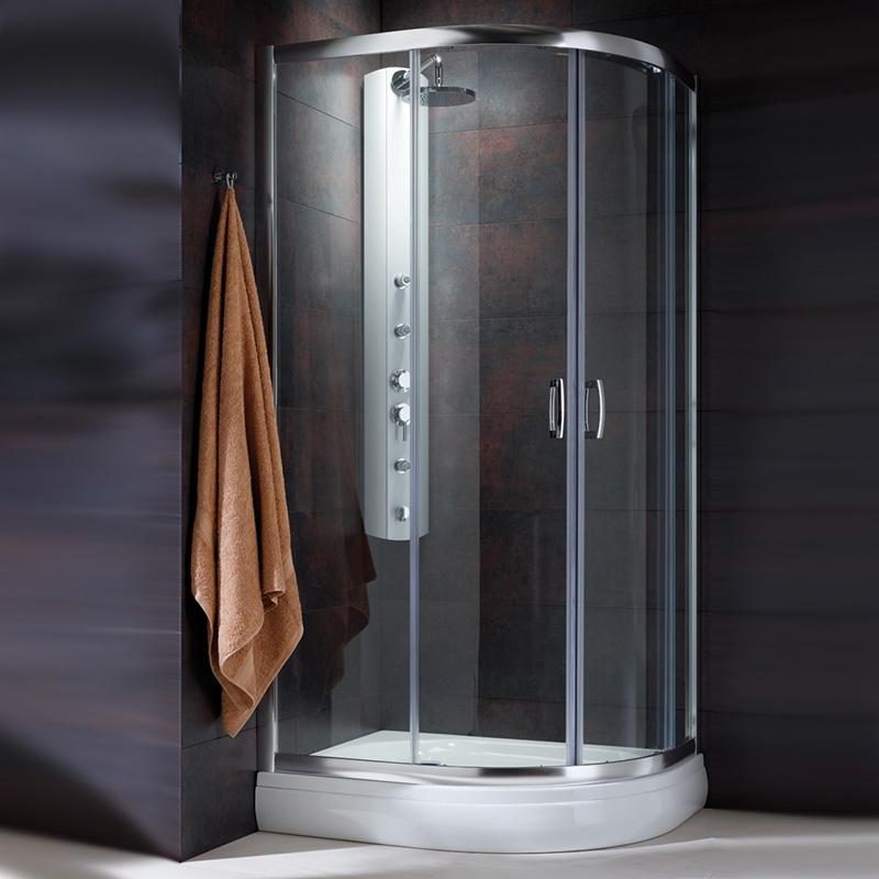 Душевой уголок Radaway Premium Plus E 1900 120x90 профиль Хром стекло Коричневое душевой уголок radaway premium plus e 1900 90x80 профиль хром стекло коричневое