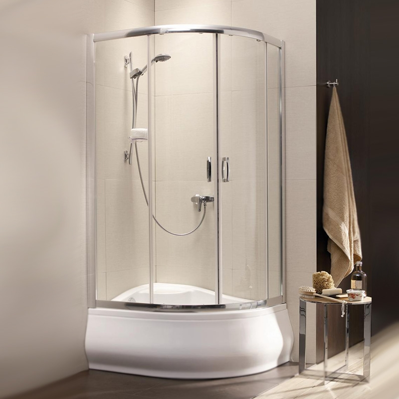 Душевой уголок Radaway Premium Plus E 1700 120x90 профиль Хром стекло Сатин душевой уголок radaway premium plus e 1700 100x80 профиль хром стекло сатин