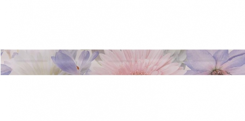 Керамический бордюр Gracia Ceramica Aquarelle lilac border 01 6,5х60 см цена 2017