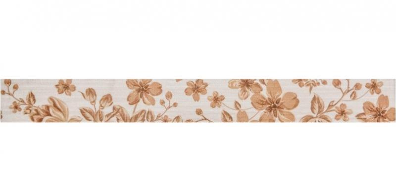Керамический бордюр Gracia Ceramica Fabric beige border 01 6,5х60 см цена 2017