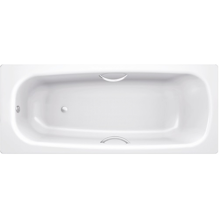 Universal HG 170x75 с ручками B75H handles с ручками БелаяВанны<br>Ванна стальная B75H handles 170x75 с отверстиями для ручек выполнена из материалов, прошедших экологический контроль. Эмалевое покрытие устойчиво к воздействию света, химическим веществам, механическим повреждениям. Толстостенная ванна имеет хорошую шумоизоляцию в комплекте. Толщина листа стали 3,5 мм. Стиль исполнения ванны – современный.<br>
