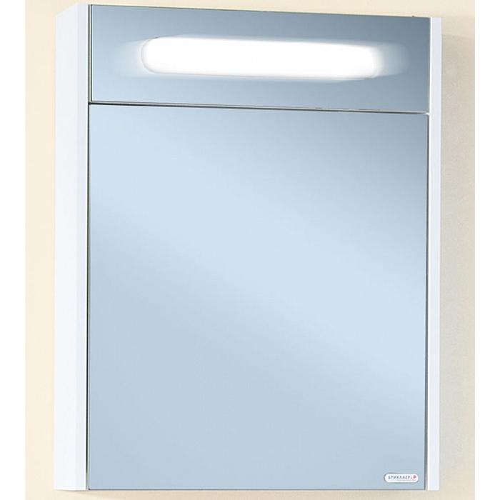 Зеркальный шкаф Бриклаер Палермо 55 с подсветкой корпус Белый глянец зеркальный шкаф бриклаер бали 40 светлая лиственница