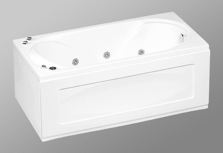 Rio Sevilla 150х75 StandartВанны<br>В комплект входит: ванна, рама, монтажный набор, сточный комплект. Дополнительно вы можете приобрести: боковую и фронтальную декоративную панель, шторки, смеситель, подголовник, карниз, уплотнительный профиль Akriflex, средство для очистки акриловых поверхностей, средство для очистки гидромассажных систем, чистящее средство для шторок Nanoglass, ароматическая жидкость Aroma.<br>