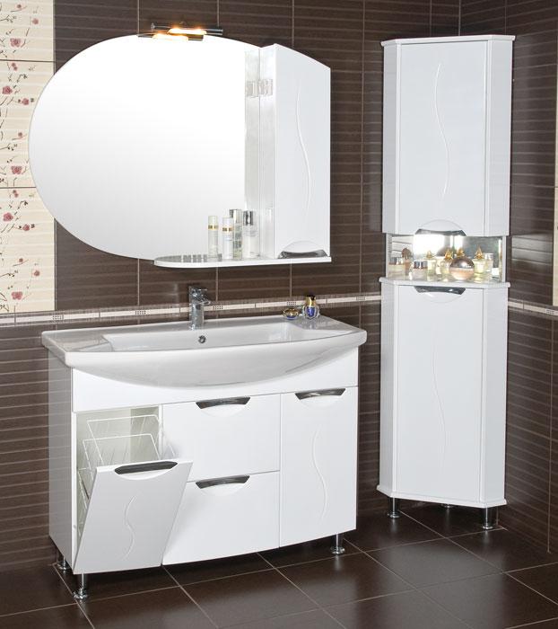 Глория 108 НапольнаяМебель для ванной<br>Мебель для ванной комнаты Аква Родос Глория 108. В комплектацию входит тумба и раковина. Дополнительно Вы можете преобоести зеркало, пенал, шкаф.<br>