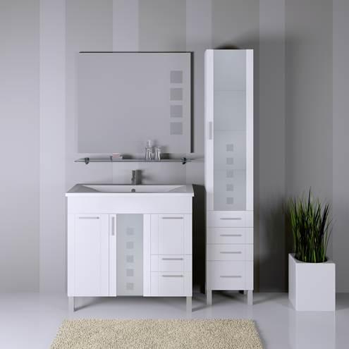 Невада 90 БелаяМебель для ванной<br>Комплект мебели для ванной комнаты Opadiris Невада. Напольный. Цвет - белый. В комплект поставки входят: Тумба с бельевой корзиной, стеклянная полка, раковина (литьевой мрамор), зеркало со встроенной подсветкой.<br>
