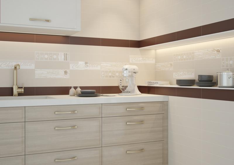 Керамическая плитка Monopole Ceramica Chocolate Decor Latte Alpes 10x40 декор