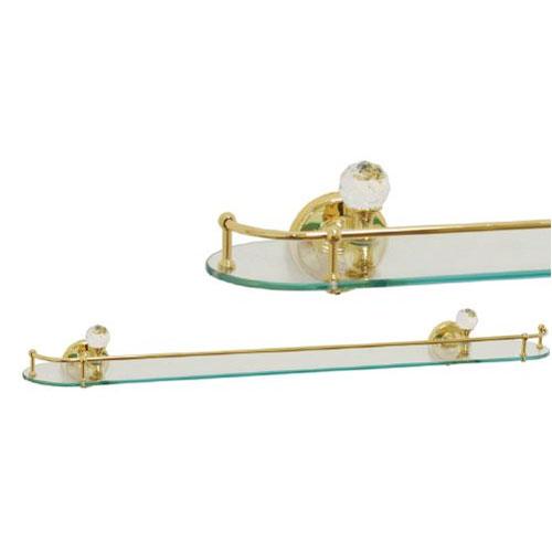 Cristalia Swarovski ML.CRS-60.220 CR DO (золото)Аксессуары для ванной<br>Migliore Cristalia Swarovski ML.CRS-60.220 DO. Полка с ограничителем, цвет: золото.<br>