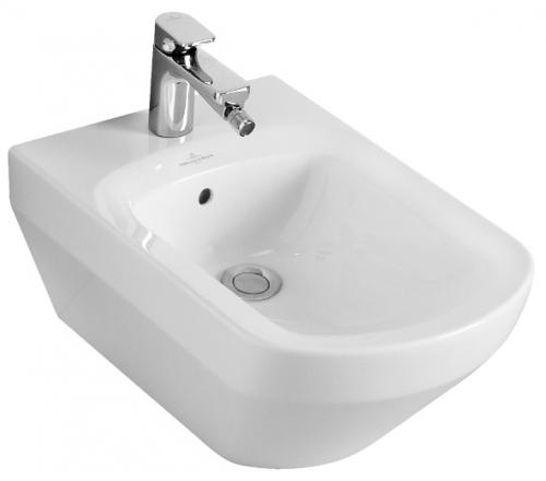 Sentique 542200R2 Белый старвайтБиде<br>Биде подвесное Villeroy &amp; Boch Sentique 542200R2. С переливом, отверстие для одно-позиционного смесителя, комплект креплений. Покрытие Ceramic Plus - особо гладкая поверхность, на которой не остаются загрязнения и пыль. Цвет белый старвайт.<br>