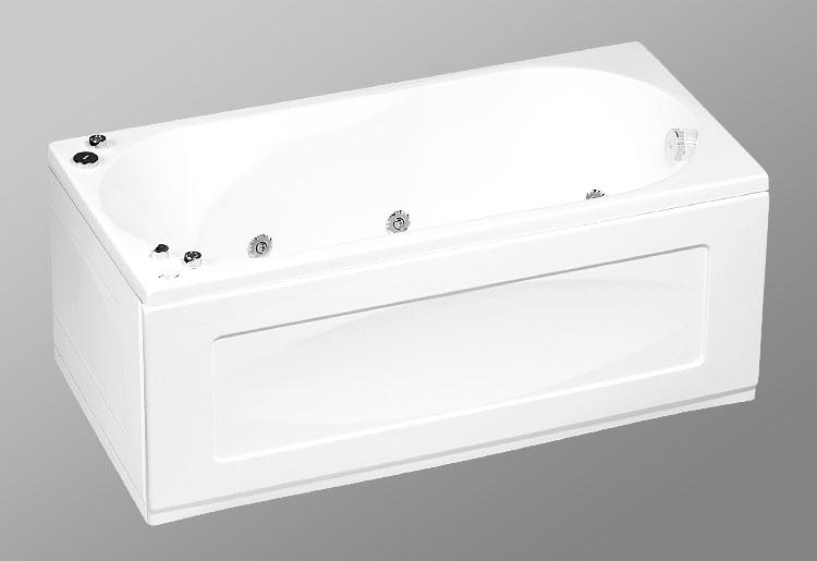 Rio Sevilla 160х75 StandartВанны<br>В комплект входит: ванна, рама, монтажный набор, сточный комплект. Дополнительно вы можете приобрести: боковую и фронтальную декоративную панель, шторки, смеситель, подголовник, карниз, уплотнительный профиль Akriflex, средство для очистки акриловых поверхностей, средство для очистки гидромассажных систем, чистящее средство для шторок Nanoglass, ароматическая жидкость Aroma.<br>