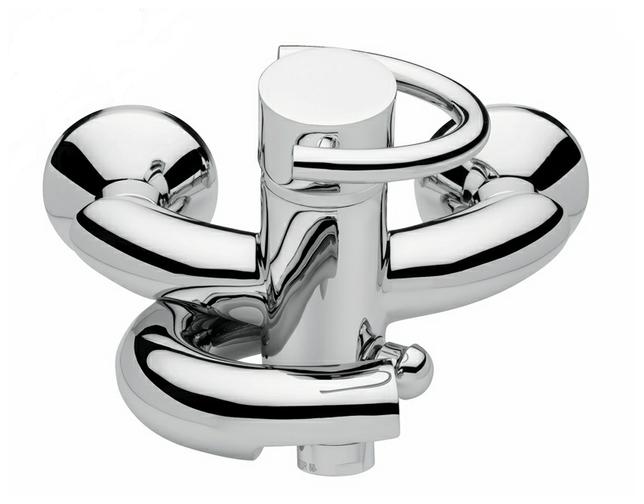 Twist 6601 ХромСмесители<br>Смеситель Emmevi Twist 6601 для ванной. Однорычажный, настенный. Цвет хром.<br>