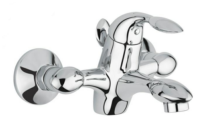 Trilly 51001 ХромСмесители<br>Смеситель Emmevi Trilly 51001 для ванной. Однорычажный, настенный. Цвет хром.<br>
