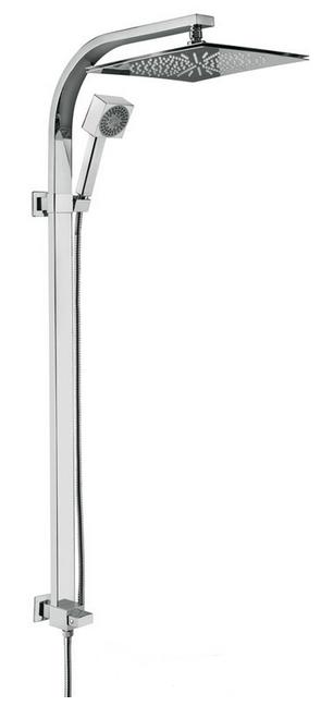 c02613 ХромДушевые системы<br>Душевая система Emmevi c02613. В комплект входит: верхний душ настенный, ручной душ, шланг. Цвет хром.<br>