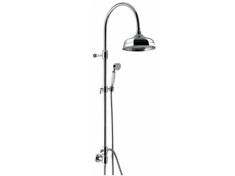 c02594E ЗолотоДушевые системы<br>Душевая система Emmevi c02594E. В комплект входит: верхний душ настенный 200x200 мм, ручной душ, шланг. Цвет золото.<br>