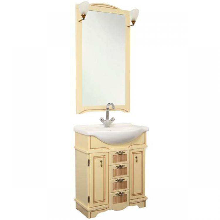 Луис Shenxin 65 БежевыйМебель для ванной<br>Тумба для ванной комнаты Акванет Луис 171440 под раковину Shenxin. В комплект поставки входит тумба.<br>