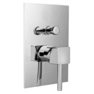 Pbox 9472 CR (Хром)Смесители<br>Смеситель для ванны Bugnatese Pbox 9472 однорычажный, встраиваемый на одно отверстие, с автоматическим переключателем душ/излив.<br>