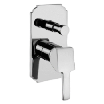 Vintage 9872 CR (Хром)Смесители<br>Смеситель для ванны Bugnatese Vintage 9872 однорычажный, встраиваемый на одно отверстие, с автоматическим переключателем душ/излив.<br>
