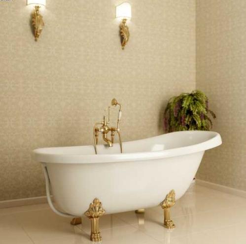 Фото - Ванна Фэма Стиль Салерно опоры золото ванна фэма стиль феррара опоры золото