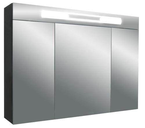 Versante Ver 800 12 Покрытие металликМебель для ванной<br>Зеркальный шкаф Valente Versante Ver 800 12 с тремя отсеками.<br>