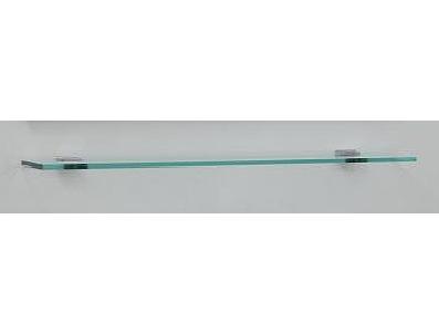 Massima M600 61 ПолкаМебель для ванной<br>Стеклянная полка с металлическими креплениями Valente Massima M600 61. Размеры: 600x6x120. Стеклянная полка производства AGC Glass - лидера европейского рынка в стекольной отрасли.<br>