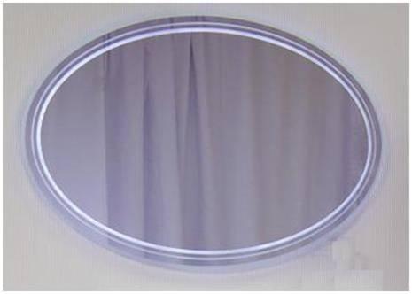Eletto Elt 1000.11-01а Покрытие глянецМебель для ванной<br>Valente Eletto Elt 1000.11-01а зеркало овальное со светодиодной подсветкой 1000*20*640 мм.<br>