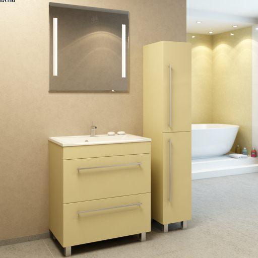 Прима 65 напольная Покрытие глянецМебель для ванной<br>Тумба под раковину Фэма Стиль Прима 65 напольная. Коврик против скольжения, крепеж к стене и ручка в комплекте.<br>