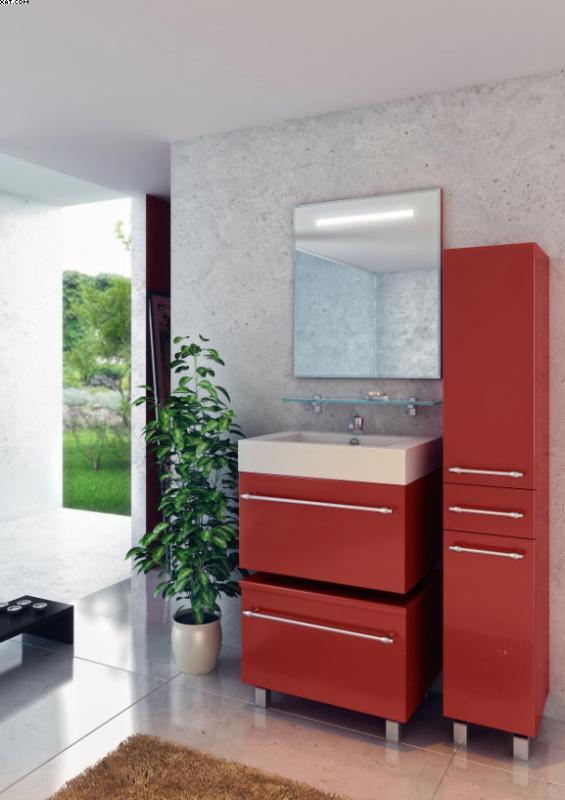 Делюкс Премиум 55 Покрытие глянецМебель для ванной<br>Тумба под раковину подвесная Фэма Стиль Делюкс Премиум 55. Цена указана за тумбу цвет глянец.  В комплект входят ручка - 1 шт., коврик против скольжения - 1 шт., крепеж к стене. Дополнительно можно приобрести раковину, зеркало и шкаф-пенал. Арт. Дл-55/2.<br>