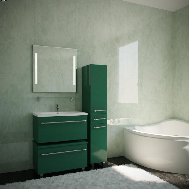 Делюкс Премиум 75 Цвет РАЛМебель для ванной<br>Тумба под раковину подвесная Фэма Стиль Делюкс Премиум 75. Коврик против скольжения, 4 мебельных опоры в цвете хром, 4 выкатных ролика и одна ручка входят в комплект.<br>
