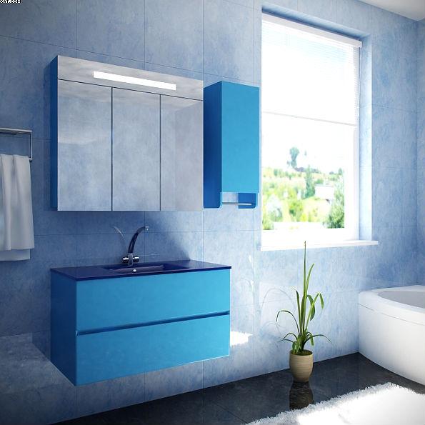Ливорно 90 Цвет РАЛМебель для ванной<br>Тумба под раковину подвесная Ливорно 90. Два коврика против скольжения и крепеж к стене в комплекте.<br>
