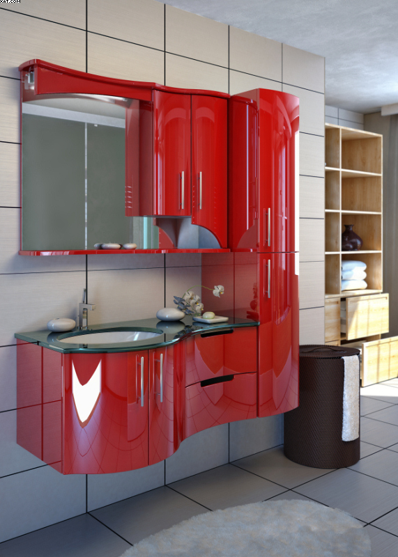 Готика 102 Цвет РАЛМебель для ванной<br>Тумба под раковину Фэма в стиле Готика. Два коврика против скольжения и крепеж к стене в комплекте.<br>