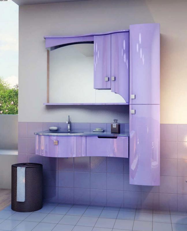Готика-5 подвесная Цвет РАЛМебель для ванной<br>Тумба под раковину подвесная Фэма Стиль Готика-5. Одна ручка, два коврика против скольжения и крепеж к стене входят в комплект.<br>