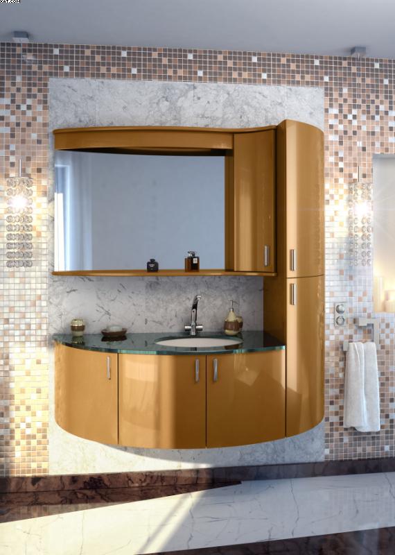 Кастелло 80 Цвет МеталликМебель для ванной<br>Тумба под раковину Фэма Стиль Кастелло. 2 ручки и крепеж к стене в комплекте.<br>