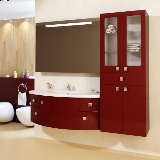 Анджело 120 Цвет РАЛМебель для ванной<br>Тумба под раковину Фэма Стиль Анджело. 5 ручек, 2 коврика против скольжения и крепеж к стене в комплекте.<br>