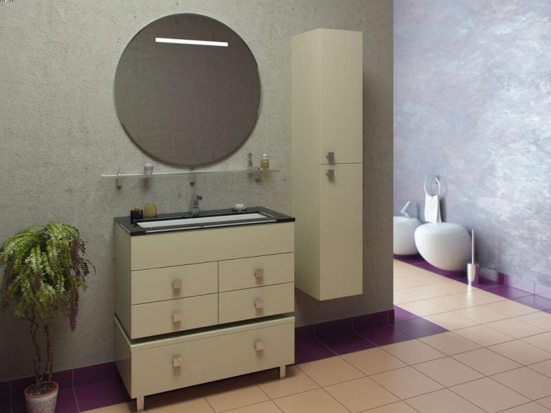 Парма 90 Цвет МеталликМебель для ванной<br>Тумба под раковину напольная Фэма Стиль Парма 900. Крепеж к стене, 4 коврика против скольжения и 4 ручки входят в комплект.<br>