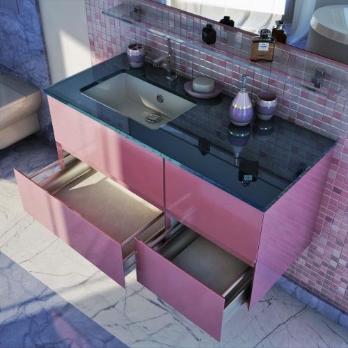 Парма 105 Цвет МеталликМебель для ванной<br>Тумба под раковину подвесная Фэма Стиль Парма 105, в комплект входят: ручки - 2 шт, коврик против скольжения - 1 шт., так же Вы можете приобрести - раковину, зеркало, пенал.<br>